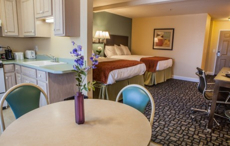 Inside a suite at Marinwood Inn and Suites, Novato CA