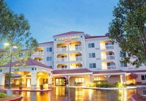 Exterior of Courtyard by Marriott Hotel, Novato CA
