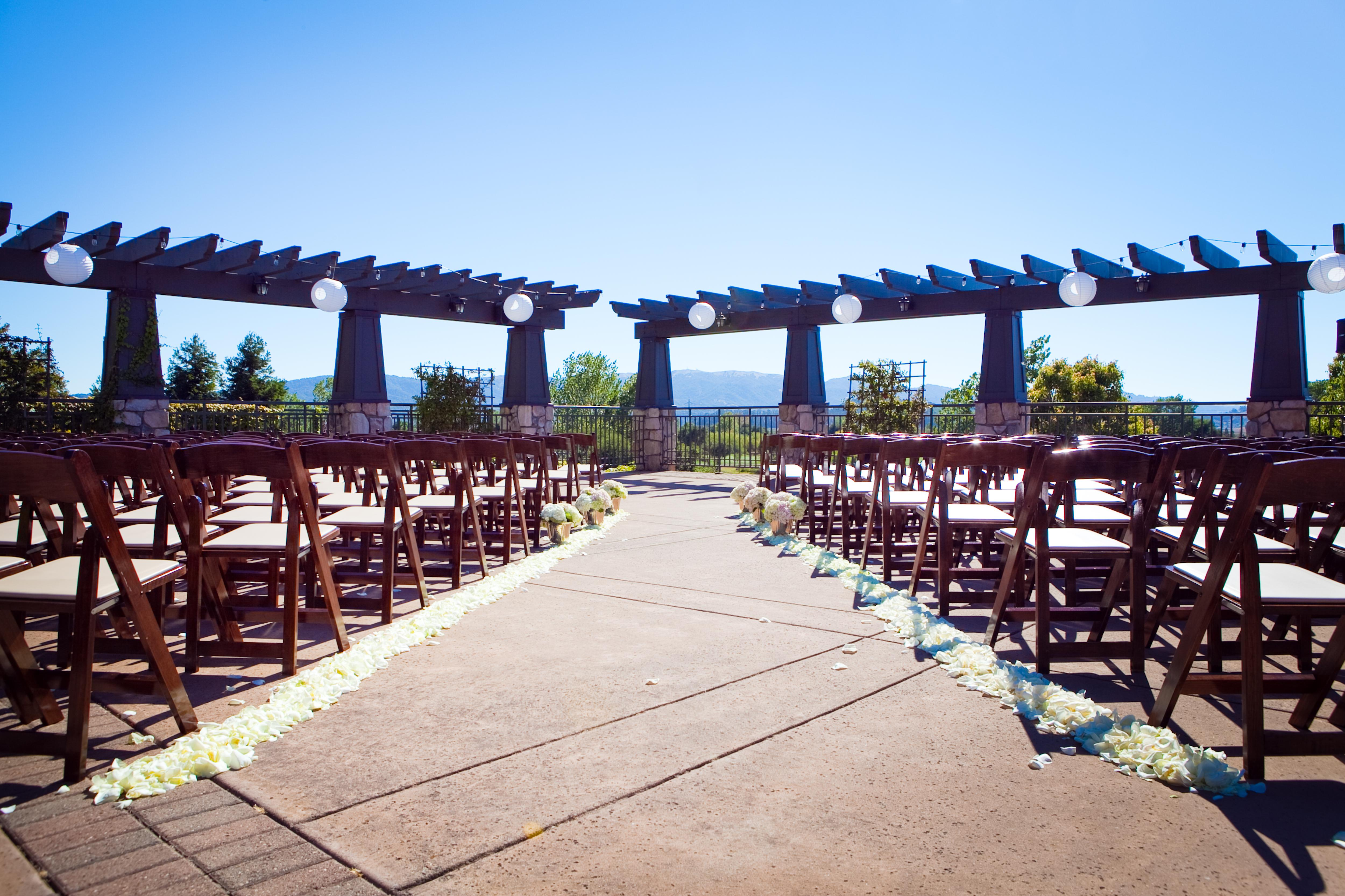 outdoor wedding venue bay club stonetree visit novato