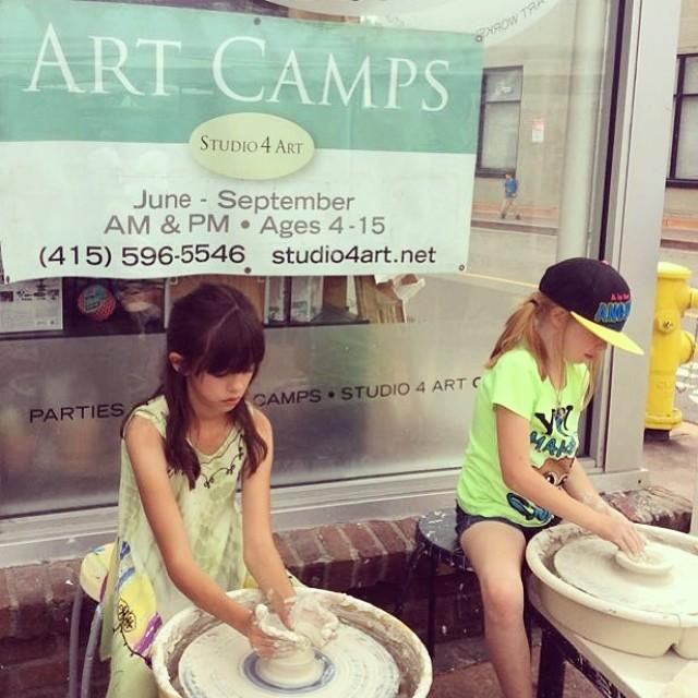 Aspiring young artists busy at the potters wheel. Studio4Art, Grant Avenue, Novato. #NovatoByNature #Novato