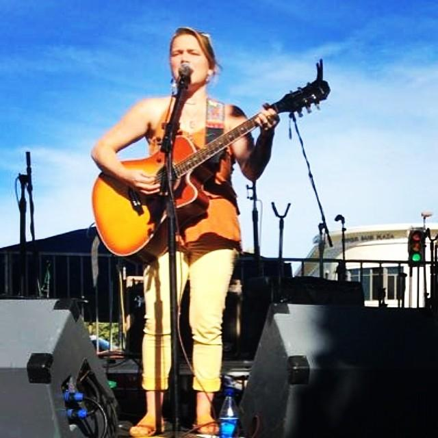 Crystal Bowersox plays at the 2014 Novato Art Wine & Music Festival. #Novato #CrystalBowersox