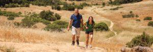 young couple enjoying hike in Marin County