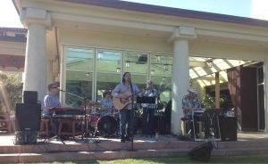 Pacific Standard band performing on stage