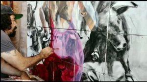 Master Artist, David Silvah painting artwork